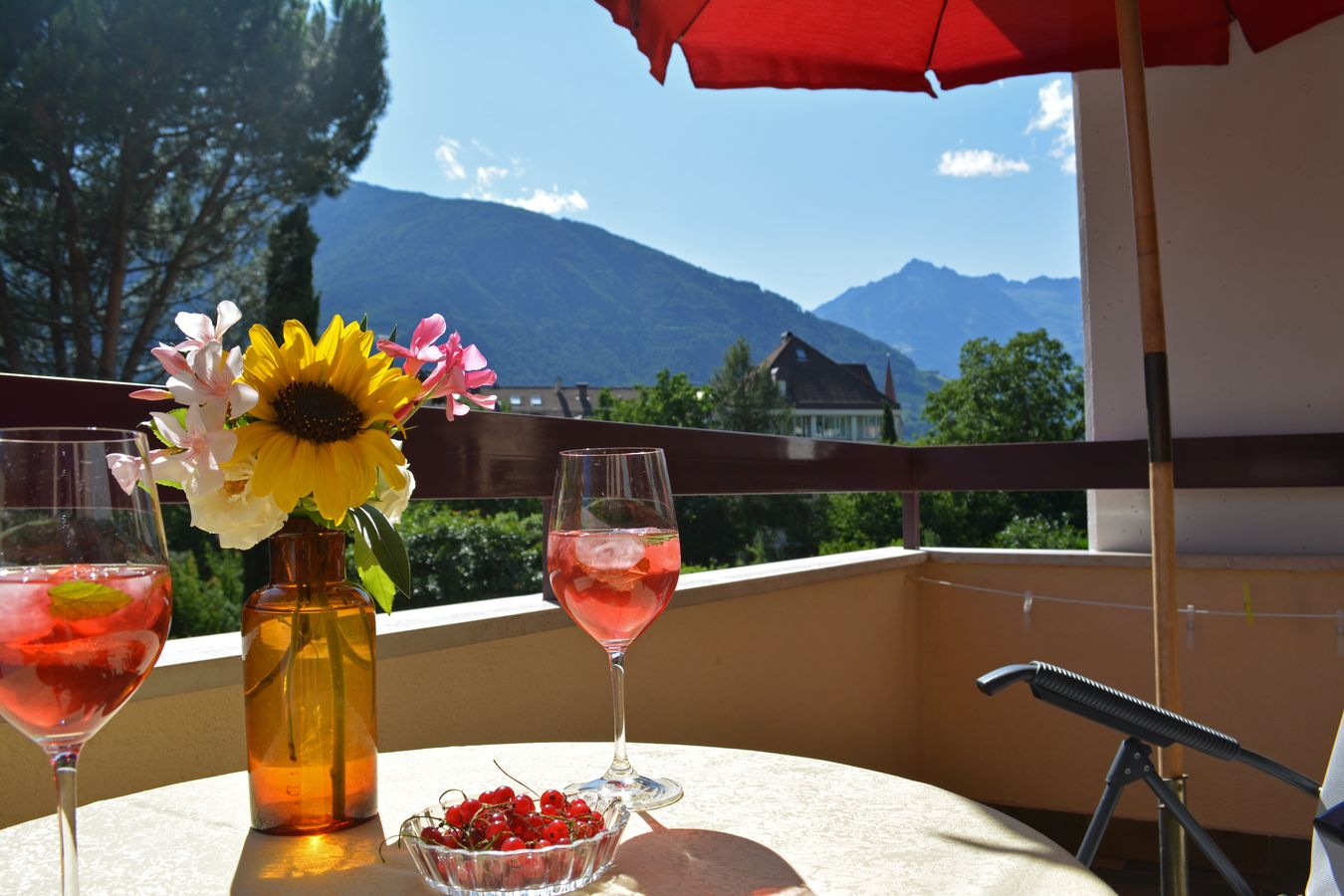 Sunny balcony South Tyrol