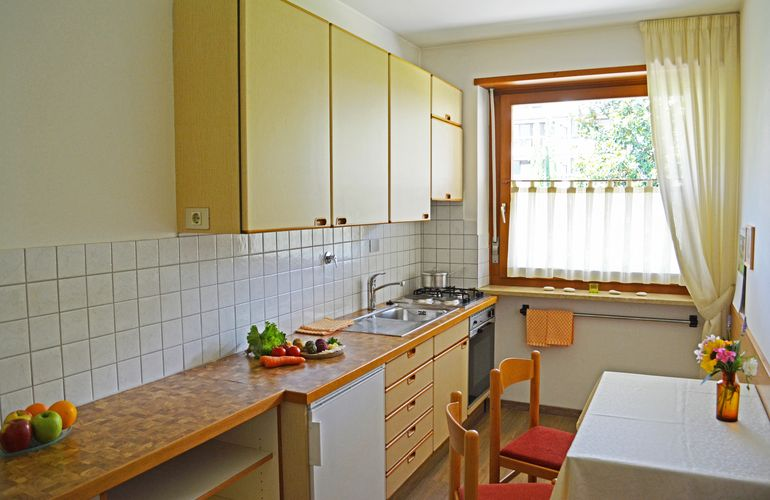 Kitchen large apartment Merano