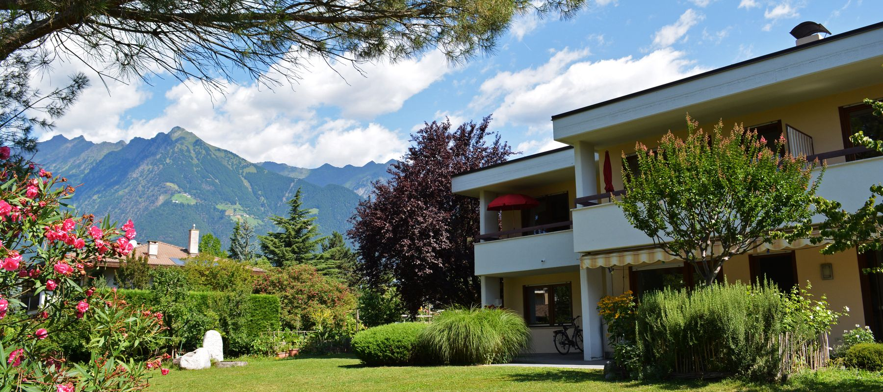 Merano apartments surronded by garden